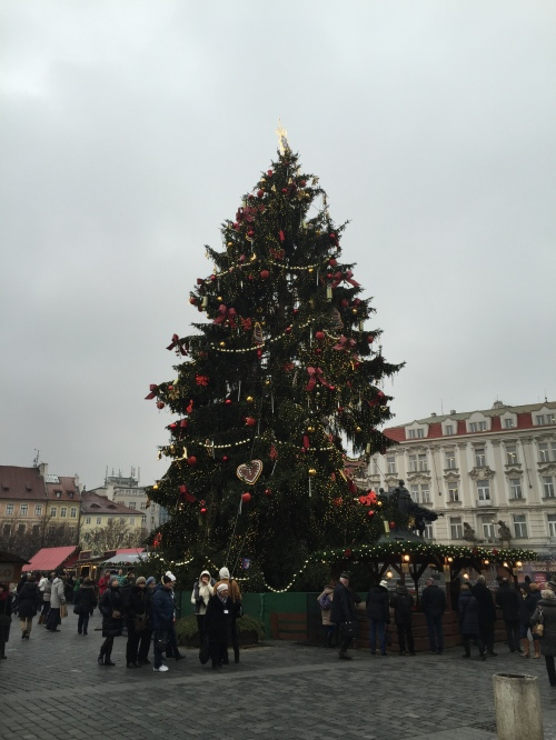 One more picture of the Christmas Tree in Old Town Square!