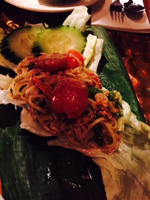 Followed by a Noodle and Papaya salad.