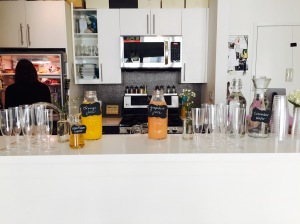 She had set up a DIY Mimosa Bar too.